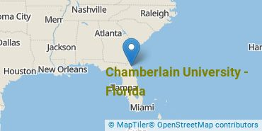 Location of Chamberlain University - Florida