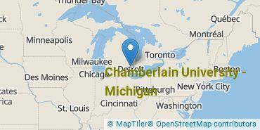Location of Chamberlain University - Michigan