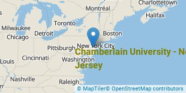 Location of Chamberlain University - New Jersey