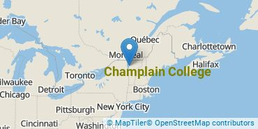Location of Champlain College