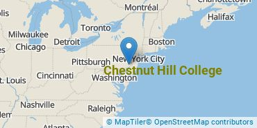 Location of Chestnut Hill College