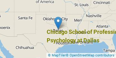 Location of Chicago School of Professional Psychology at Dallas