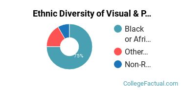 Ethnic Diversity of Visual & Performing Arts Majors at Chicago State University