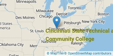 Location of Cincinnati State Technical and Community College
