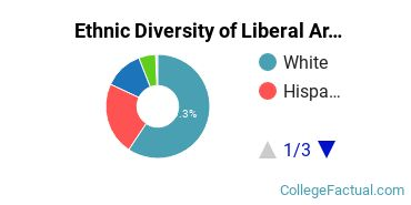 Ethnic Diversity of Liberal Arts / Sciences & Humanities Majors at Cisco College