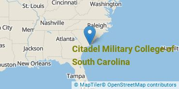 Location of Citadel Military College of South Carolina