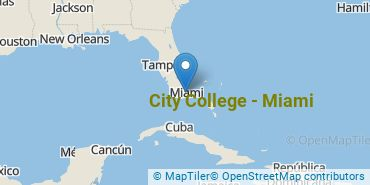 Location of City College - Miami