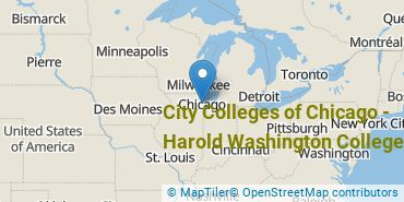 Location of City Colleges of Chicago - Harold Washington College