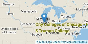 Location of City Colleges of Chicago - Harry S Truman College