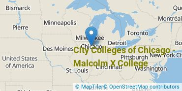 Location of City Colleges of Chicago-Malcolm X College