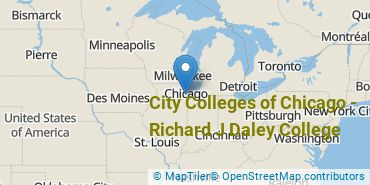 Location of City Colleges of Chicago-Richard J Daley College