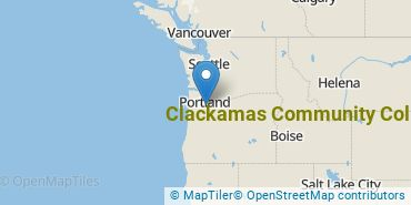 Location of Clackamas Community College