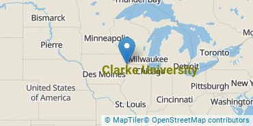 Location of Clarke University