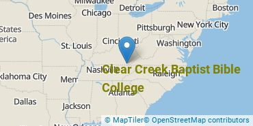 Location of Clear Creek Baptist Bible College