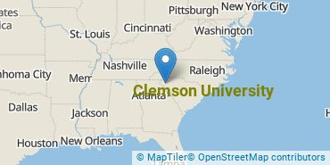 Location of Clemson University