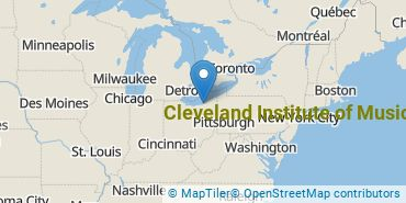 Location of Cleveland Institute of Music