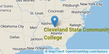 Location of Cleveland State Community College