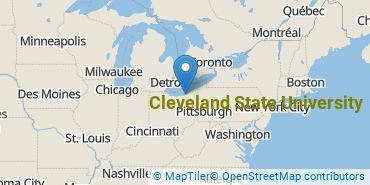 Location of Cleveland State University