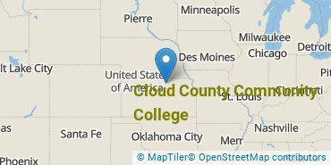Location of Cloud County Community College