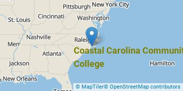 Location of Coastal Carolina Community College