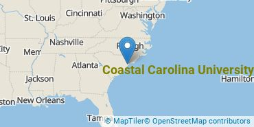 Location of Coastal Carolina University