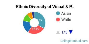 Ethnic Diversity of Visual & Performing Arts Majors at Cogswell College
