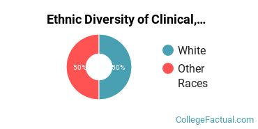 Ethnic Diversity of Clinical, Counseling & Applied Psychology Majors at Coker College