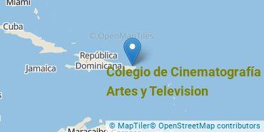 Location of Colegio de Cinematografía Artes y Television