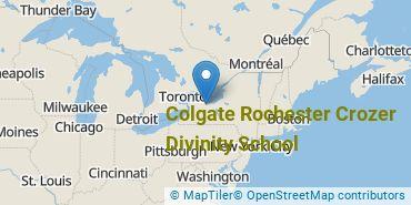 Location of Colgate Rochester Crozer Divinity School