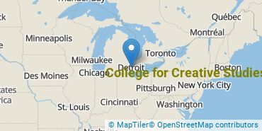 Location of College for Creative Studies
