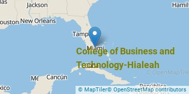 Location of College of Business and Technology-Hialeah