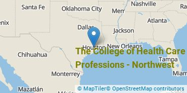 Location of The College of Health Care Professions - Northwest