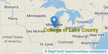 Location of College of Lake County