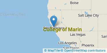 Location of College of Marin