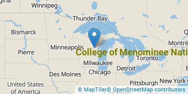Location of College of Menominee Nation