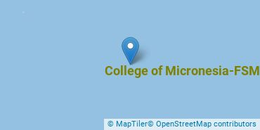Location of College of Micronesia-FSM