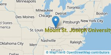 Location of Mount St. Joseph University