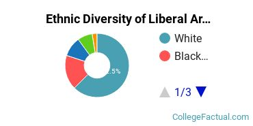 Ethnic Diversity of Liberal Arts / Sciences & Humanities Majors at Notre Dame of Maryland University