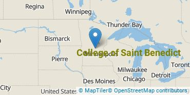Location of College of Saint Benedict