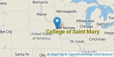 Location of College of Saint Mary