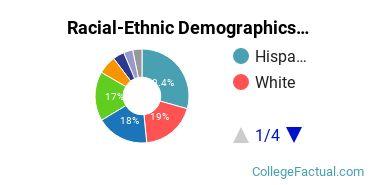 College of San Mateo Undergraduate Racial-Ethnic Diversity Pie Chart