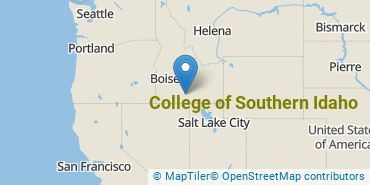Location of College of Southern Idaho