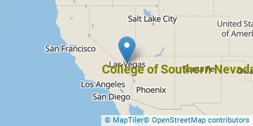 Location of College of Southern Nevada