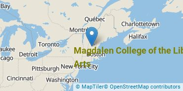 Location of Magdalen College of the Liberal Arts