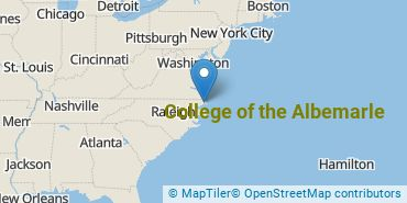 Location of College of the Albemarle