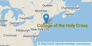 Location of College of the Holy Cross