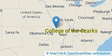 Location of College of the Ozarks