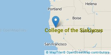Location of College of the Siskiyous