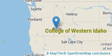 Location of College of Western Idaho