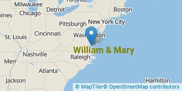 Location of College of William and Mary
